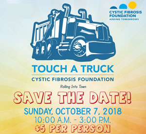 Touch A Truck event for Cystic Fibrosis Foundation